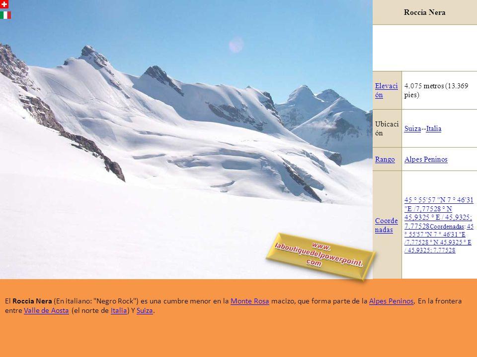 Parrotspitze Elevación4.432 metros (14.541 pies) Ubicación Valle de AostaValle de Aosta, Italia / Valais, SuizaItalia ValaisSuiza RangoAlpes Peninos P