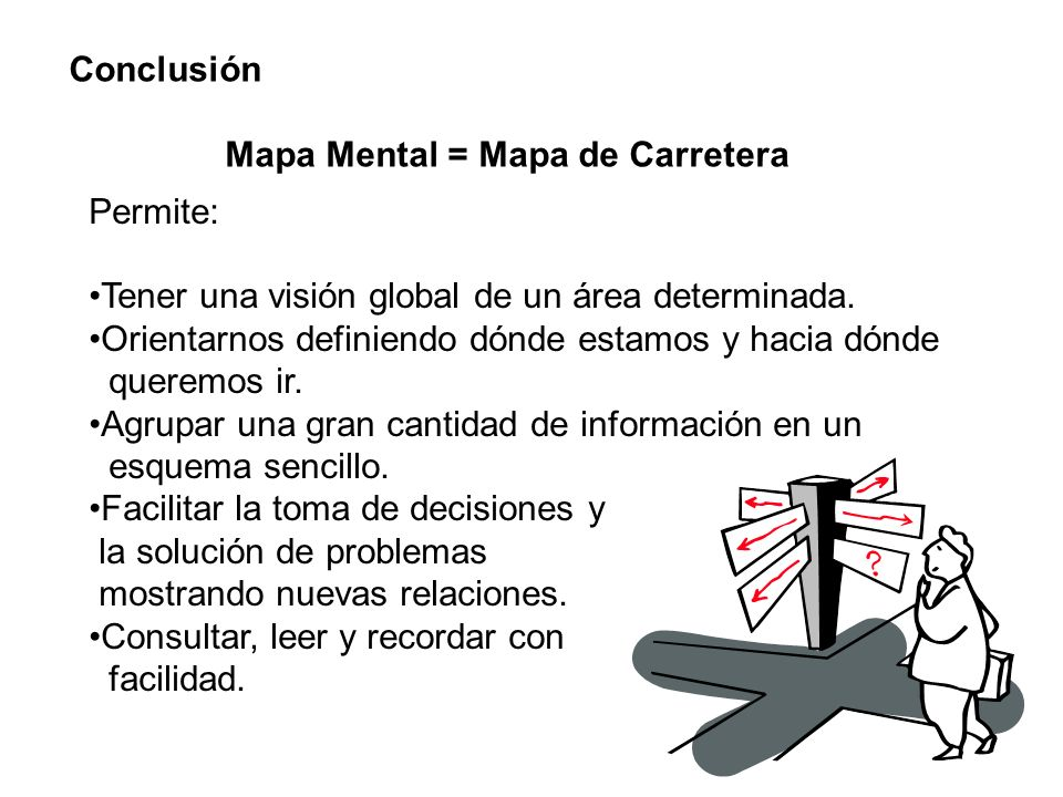 Permite: Tener una visión global de un área determinada. Orientarnos definiendo dónde estamos y hacia dónde queremos ir. Agrupar una gran cantidad de