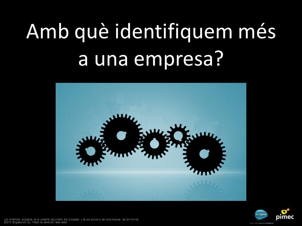 Amb què identifiquem més a una empresa? Los contenidos expuestos en el presente documento son propiedad y de uso exclusivo del Autor/Autores de los mi