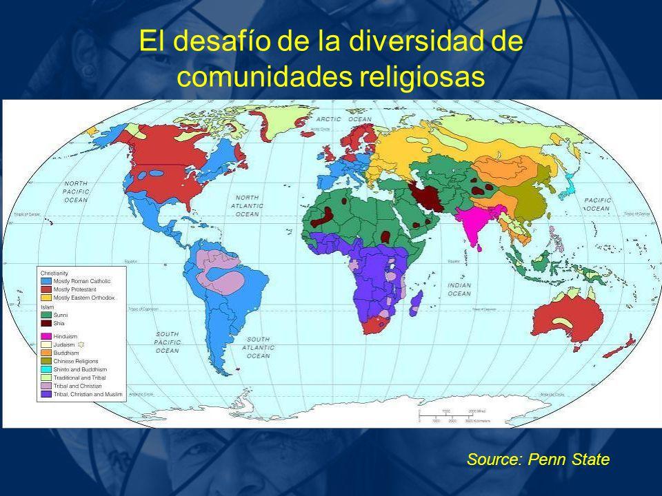 Source: Penn State El desafío de la diversidad de comunidades religiosas