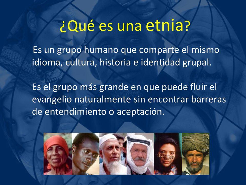 Es un grupo humano que comparte el mismo idioma, cultura, historia e identidad grupal. Es el grupo más grande en que puede fluir el evangelio naturalm