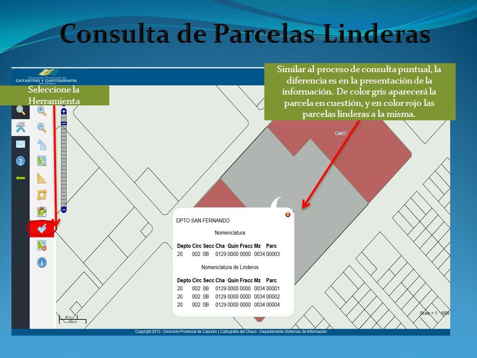 Similar al proceso de consulta puntual, la diferencia es en la presentación de la información.