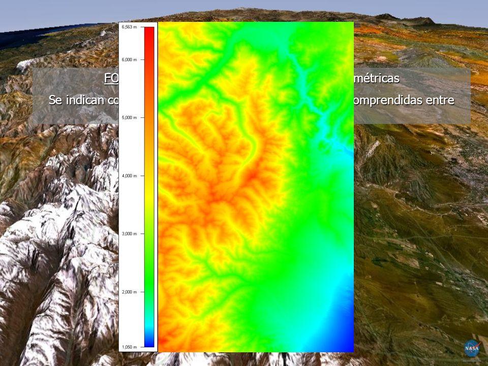 FORMAS DEL RELIEVE Filo, cresta o cordón Silla Depresión Valle Cerro Pendiente o cuesta
