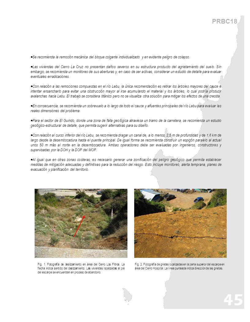 PRBC18 Fig. 1. Fotografía de deslizamiento en área del Cerro Los Filtros.