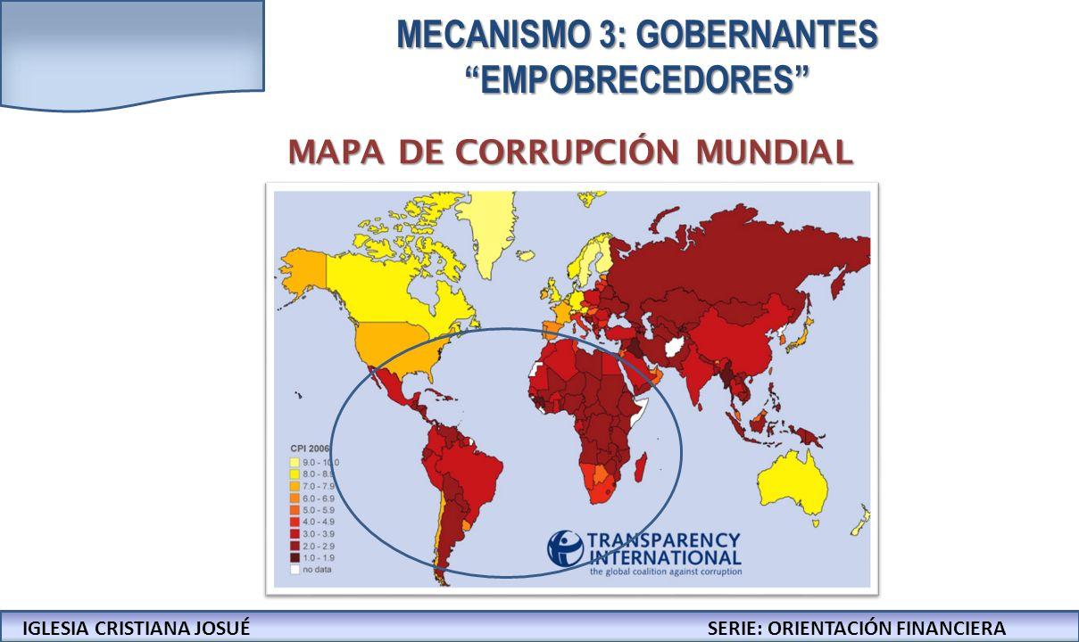 IGLESIA CRISTIANA JOSUECONFERENCIAS: LA BIBLIA Y LOS NEGOCIOS MAPA DE CORRUPCIÓN MUNDIAL IGLESIA CRISTIANA JOSUÉSERIE: ORIENTACIÓN FINANCIERA MECANISM