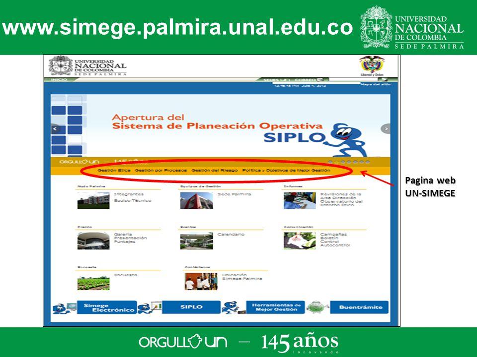 www.simege.palmira.unal.edu.co Pagina web UN-SIMEGE