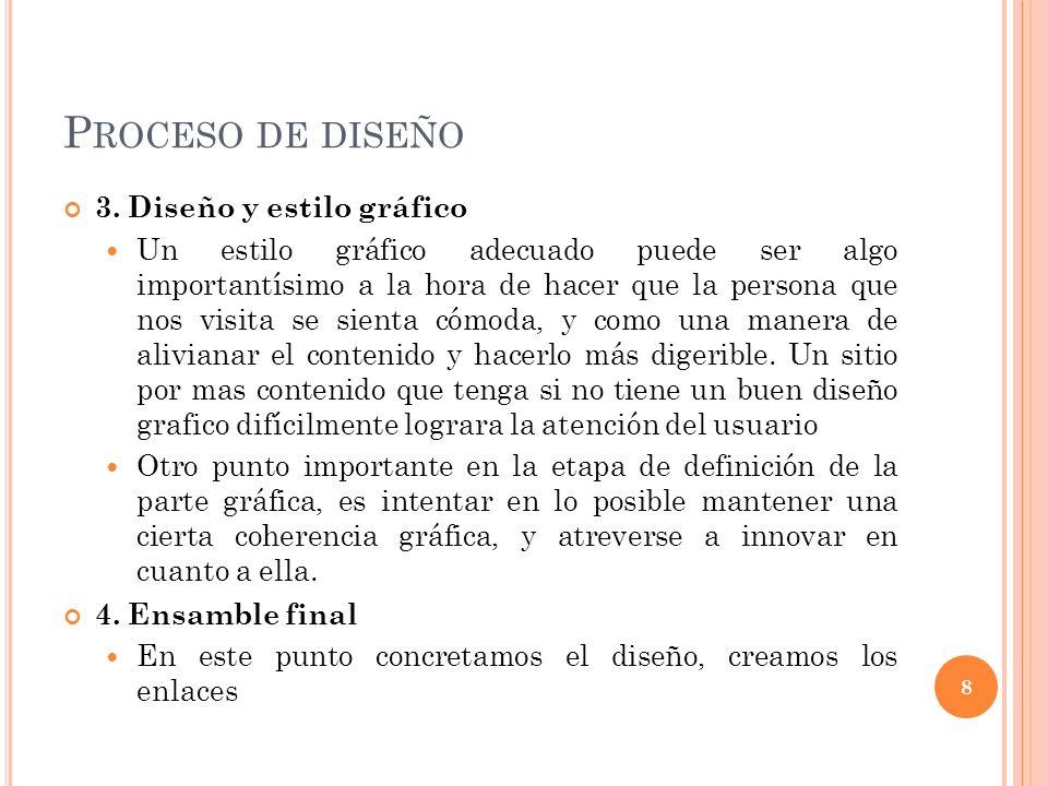 P ROCESO DE DISEÑO 3.
