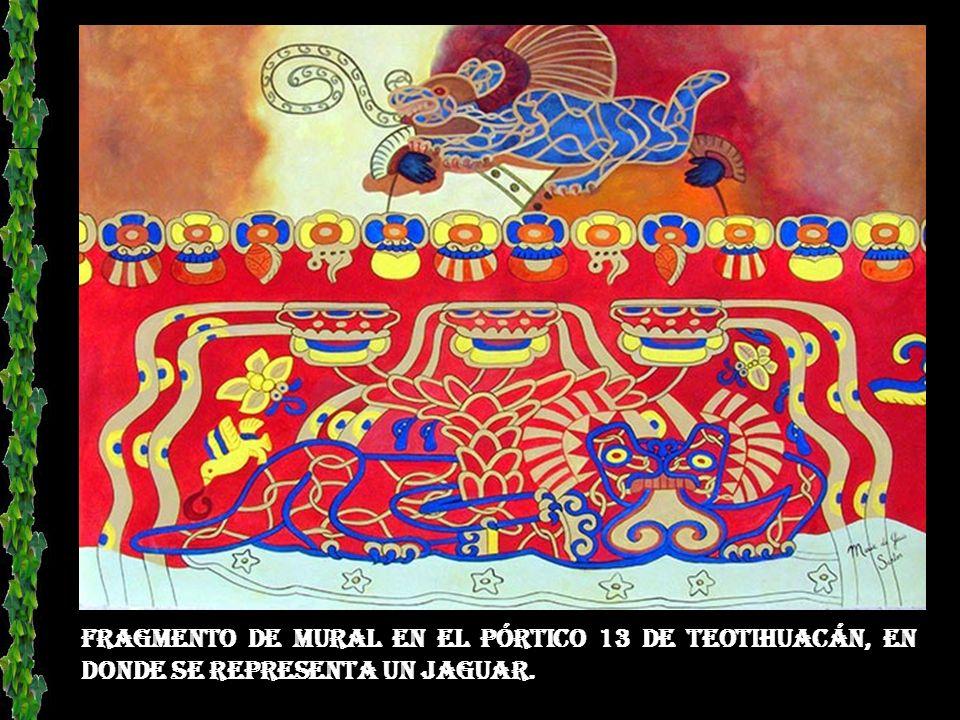 Representación de la dedicación de la civilización Teotihuacana a la decoración de sus edificios y fachadas de templos.
