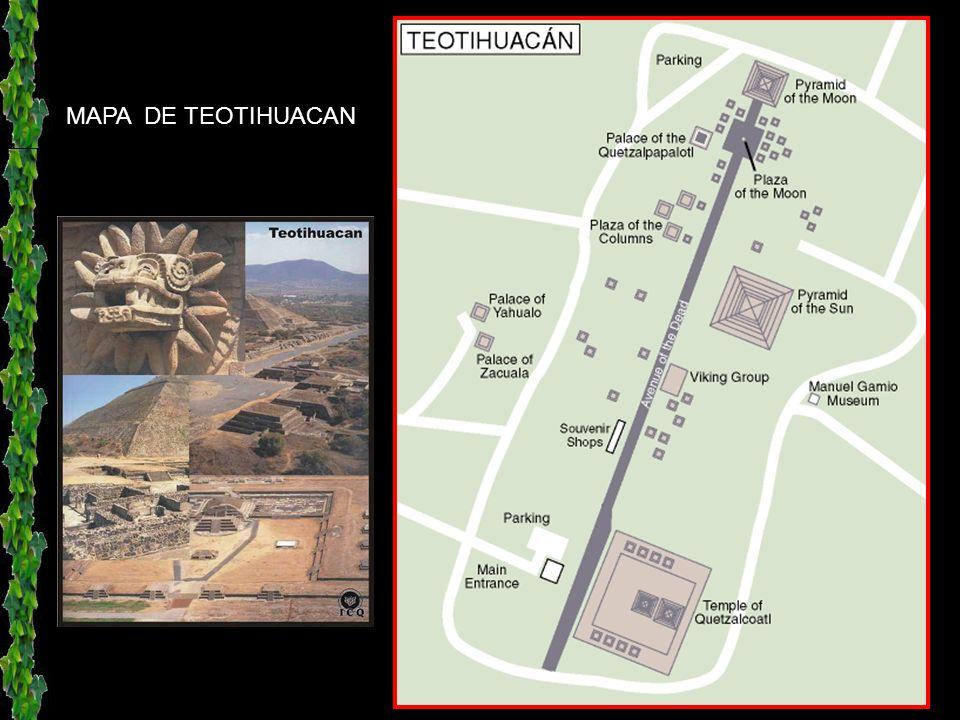 El valle de Teotihuacán está situado a 45 km., hacia el noroeste de la ciudad de México