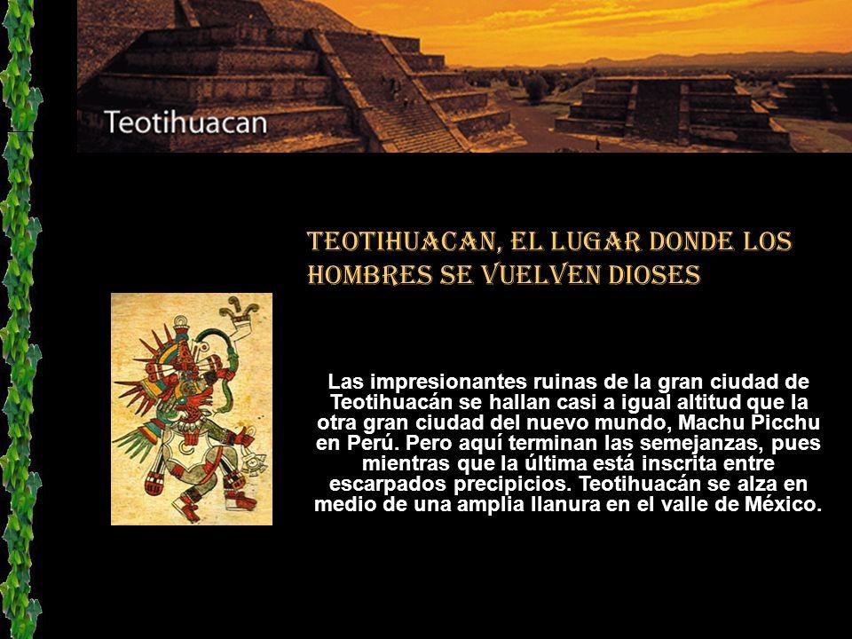 Los aztecas llegaron a Teotihuacan en el siglo XIV y se encontraron con un inmenso centro religioso abandonado. Tanto les impresionó la grandeza del l