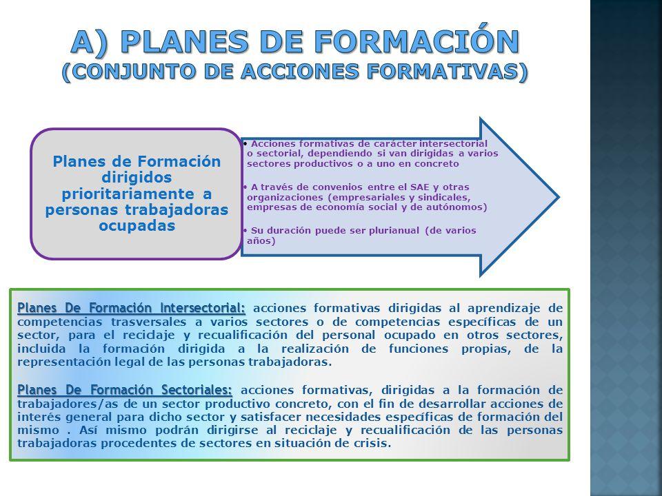 Acciones formativas de carácter intersectorial o sectorial, dependiendo si van dirigidas a varios sectores productivos o a uno en concreto A través de