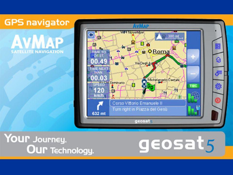 MADE IN ITALY Geosat 5 tiene la garantia de un producto enteramente diseñado, desarrollado y producido en Italia con el Know-How y la experiencia de AvMap que tiene más de 10 años de actividad en el sector de la navegación vía Satélite.(terrestre y aereronautica)