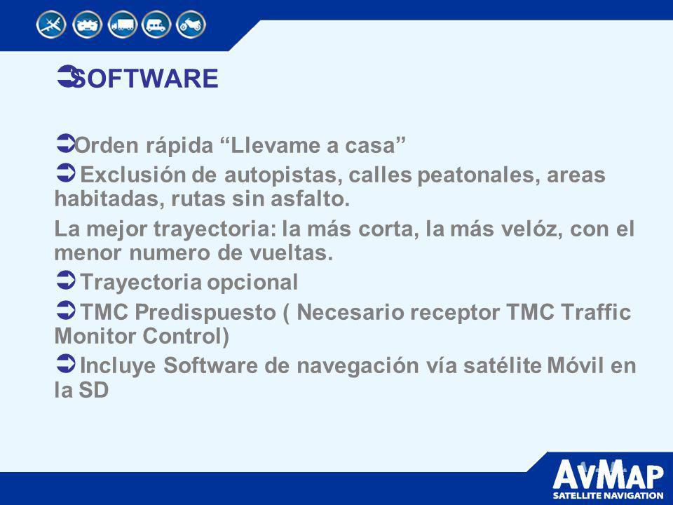 5 Funciones Inteligentes: Navegación Vía Satélite All-in-One Información del Tráfico Alarma Radares Video Monitor Software de navegación Móvil para PDA/Smathphone (SD con teclonogía de uso multiple.
