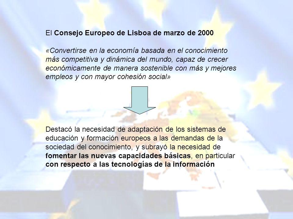 melchor.gomez@uam.es Universidad Autónoma de Madrid El Consejo Europeo de Lisboa de marzo de 2000 «Convertirse en la economía basada en el conocimient