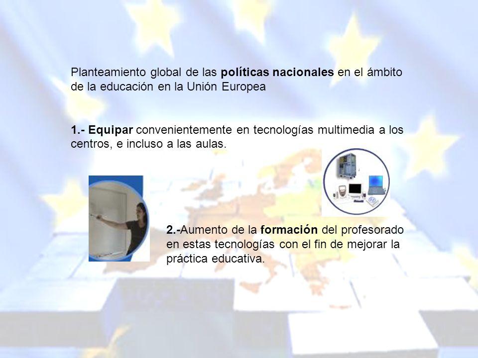 melchor.gomez@uam.es Universidad Autónoma de Madrid Planteamiento global de las políticas nacionales en el ámbito de la educación en la Unión Europea