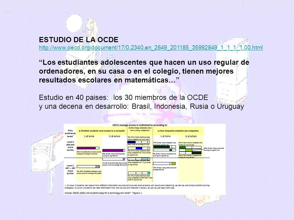 melchor.gomez@uam.es Universidad Autónoma de Madrid ESTUDIO DE LA OCDE http://www.oecd.org/document/17/0,2340,en_2649_201185_35992849_1_1_1_1,00.html