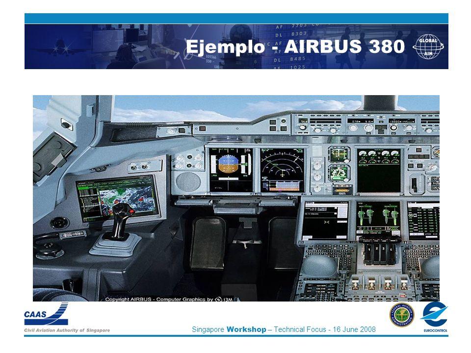 Singapore Workshop – Technical Focus - 16 June 2008 Ejemplo - AIRBUS 380