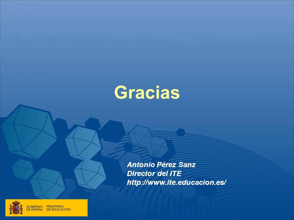 Gracias Antonio Pérez Sanz Director del ITE http://www.ite.educacion.es/