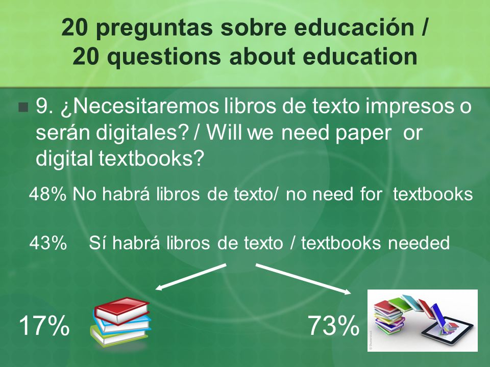 20 preguntas sobre educación / 20 questions about education 9.