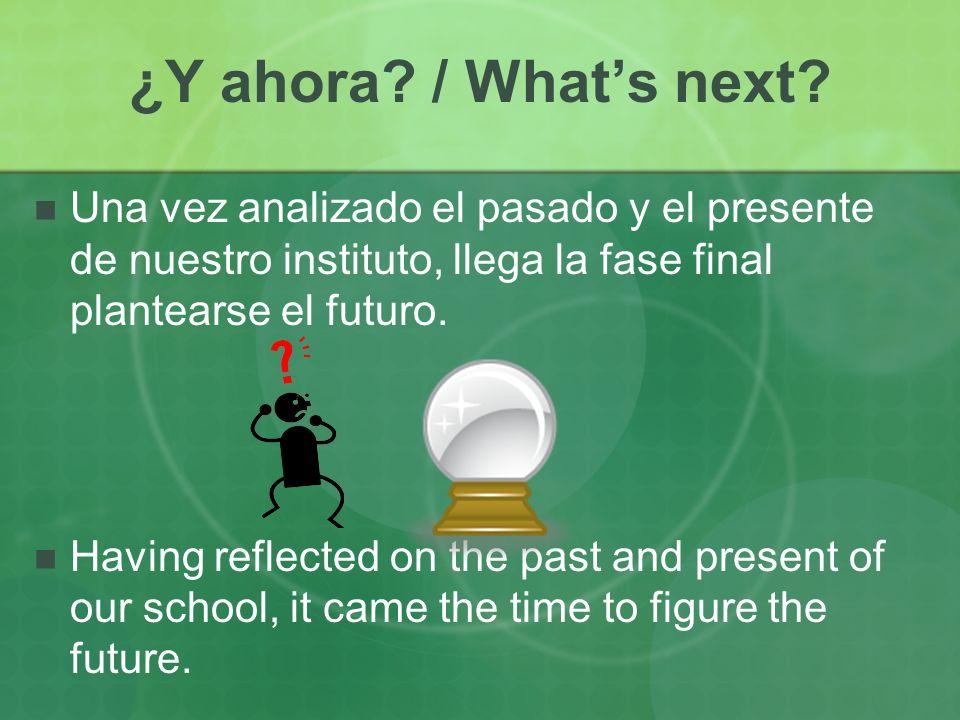 ¿Y ahora. / Whats next.