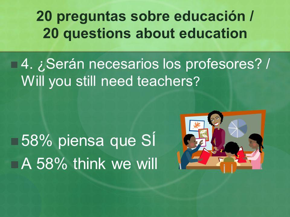 20 preguntas sobre educación / 20 questions about education 15.
