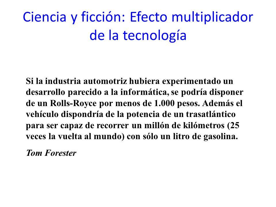 Ciencia y ficción: Efecto multiplicador de la tecnología Si la industria automotriz hubiera experimentado un desarrollo parecido a la informática, se