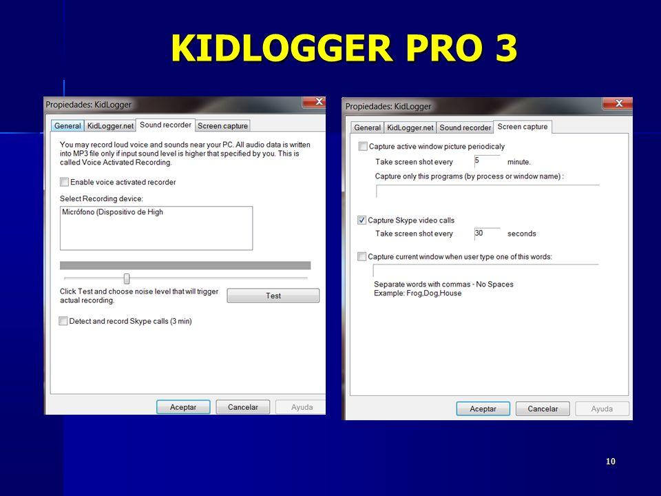 10 KIDLOGGER PRO 3