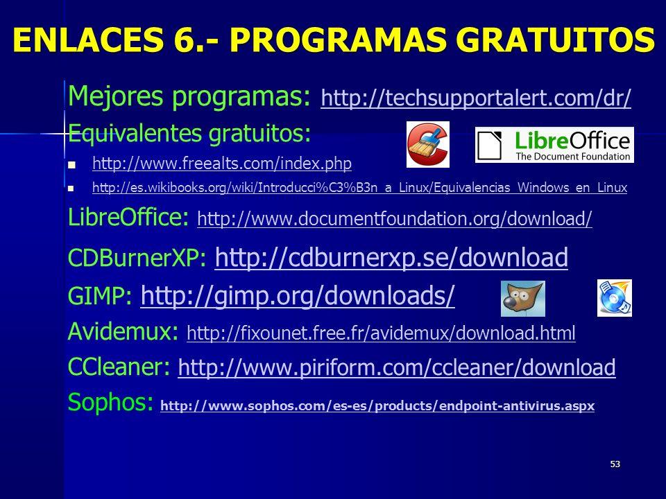 53 Mejores programas: http://techsupportalert.com/dr/ http://techsupportalert.com/dr/ Equivalentes gratuitos: http://www.freealts.com/index.php http:/