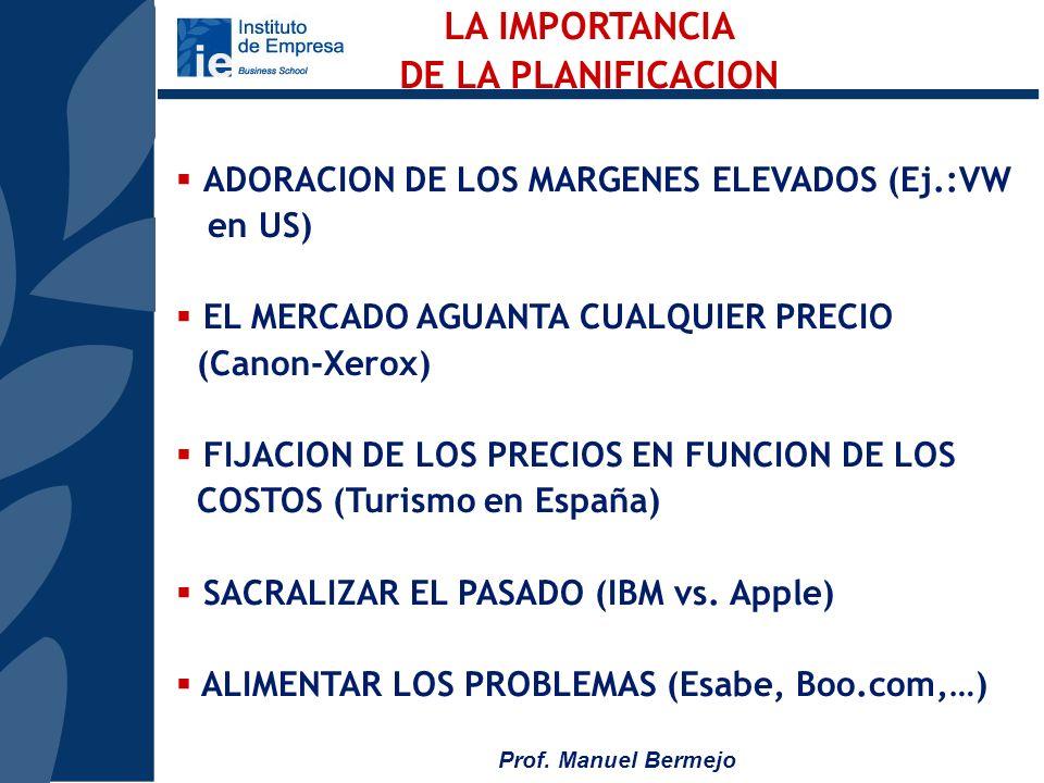Prof. Manuel Bermejo LA PLANIFICACION