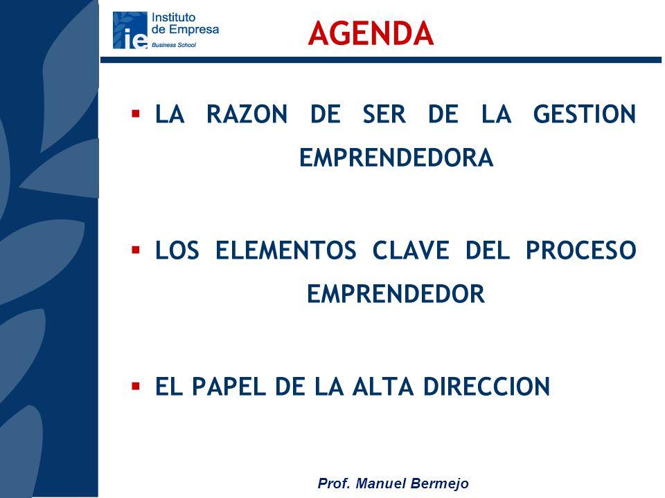 Prof. Manuel Bermejo 1.LO MAS IMPORTANTE EN LA EMPRESA ES LA CAPACIDAD DE GENERAR NEGOCIO, AUNQUE LA VIDA TE ENSEÑA QUE HAY MUCHOS PROFESIONALES CON O