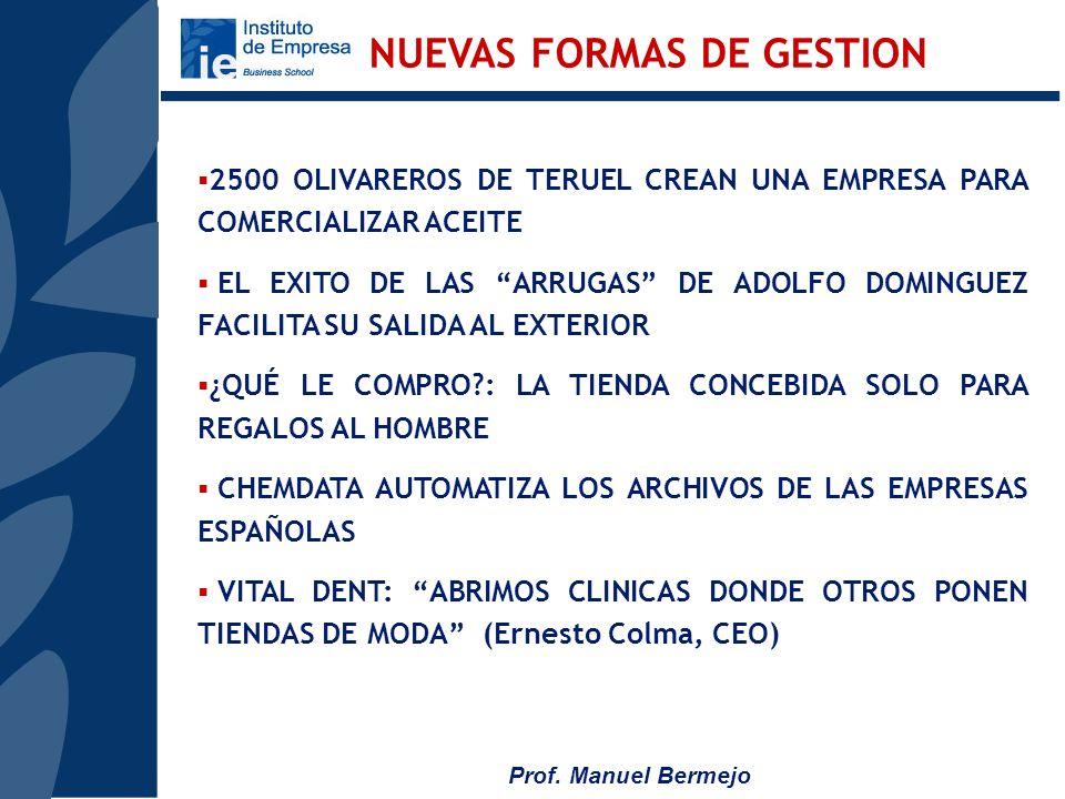 Prof. Manuel Bermejo SPOT BANK: EL RECICLAJE DE ANUNCIOS PONTE LAS PILAS: SE INICIA LA COMERCIALIZACION DE AUTOMOVILES ELECTRICOS APUESTA POR LA ENERG