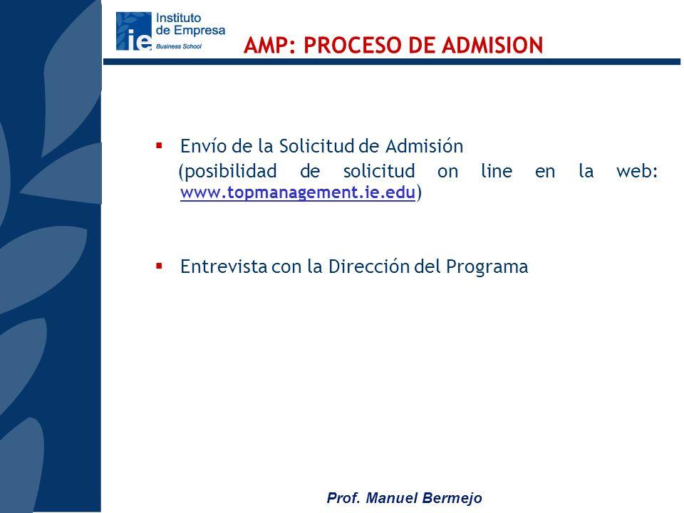 Prof. Manuel Bermejo Fechas: Del 2 al 26 de Julio de 2007 con horario intensivo El programa se imparte integramente en español, en Madrid en la sede d