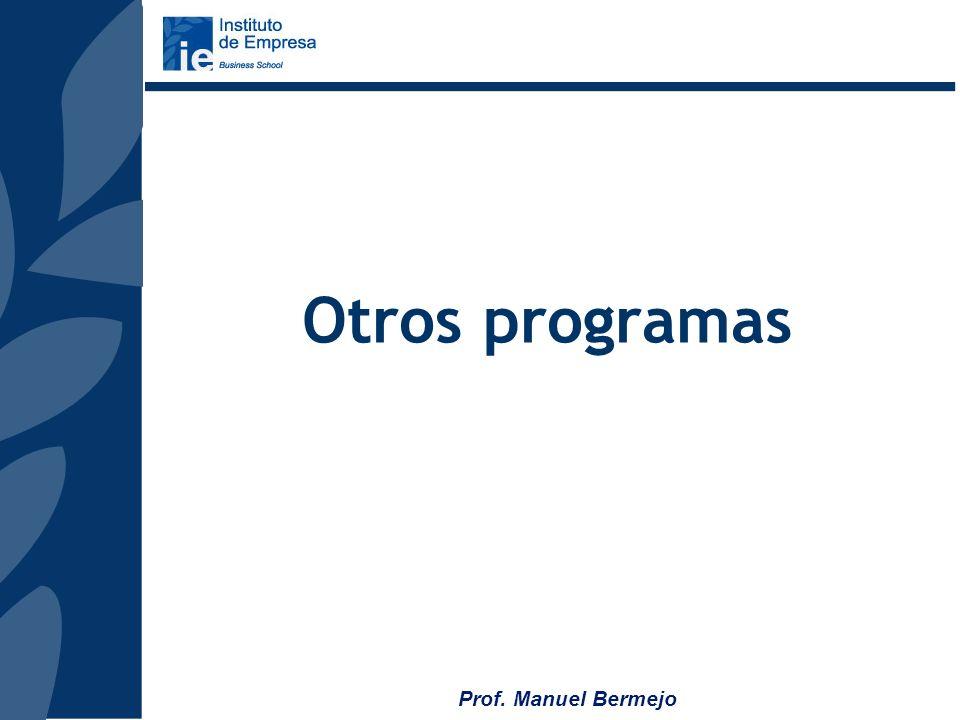 Prof. Manuel Bermejo Envío de la Solicitud de Admisión (posibilidad de solicitud on line en la web: www.topmanagement.ie.edu ) Entrevista con la Direc