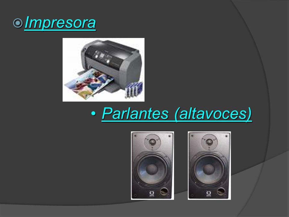 Son los que reciben información que es procesada por el CPU y la reproducen para que sea perceptible por el usuario: Monitor Monitor