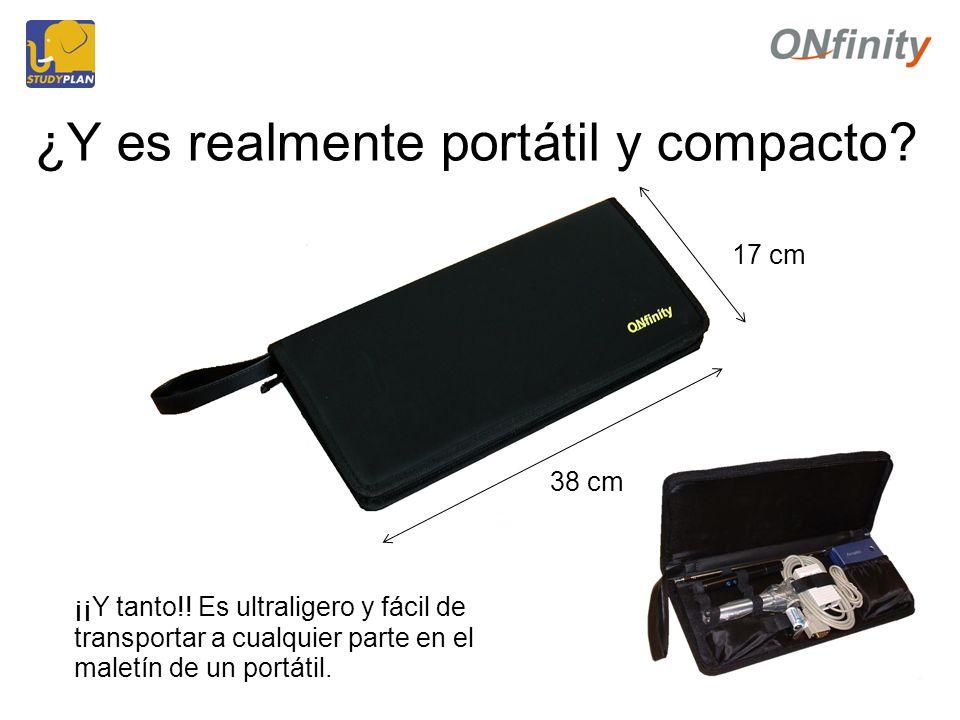 ¿Y es realmente portátil y compacto. ¡¡Y tanto!.
