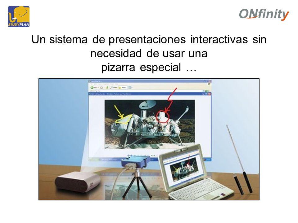 Un sistema de presentaciones interactivas sin necesidad de usar una pizarra especial …