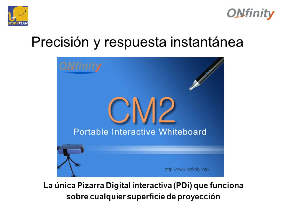 Precisión y respuesta instantánea La única Pizarra Digital interactiva (PDi) que funciona sobre cualquier superficie de proyección