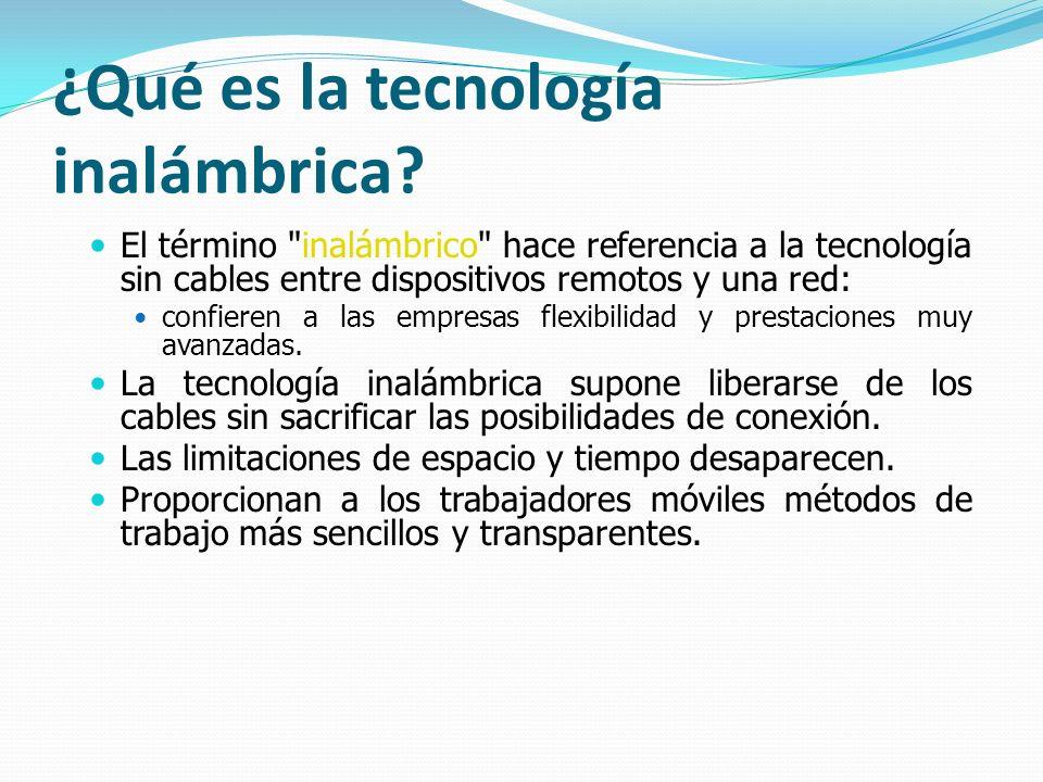 ¿Qué es la tecnología inalámbrica? El término
