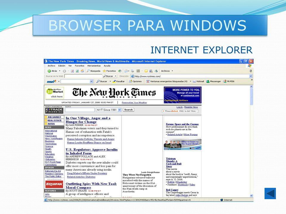 BROWSER PARA WINDOWS INTERNET EXPLORER