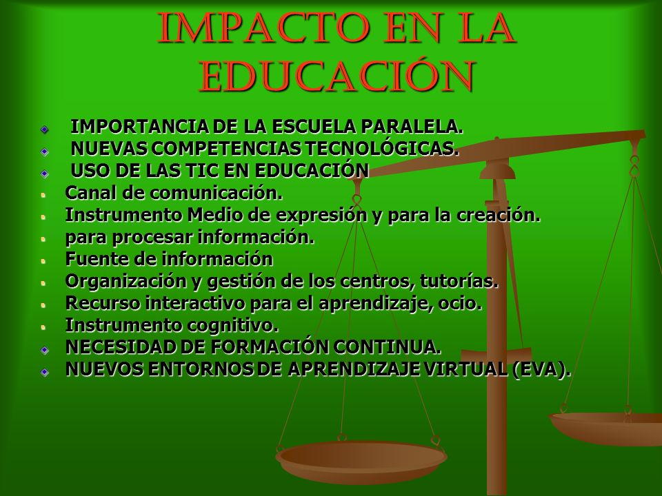 IMPACTO EN LA EDUCACIÓN IMPORTANCIA DE LA ESCUELA PARALELA. IMPORTANCIA DE LA ESCUELA PARALELA. NUEVAS COMPETENCIAS TECNOLÓGICAS. NUEVAS COMPETENCIAS