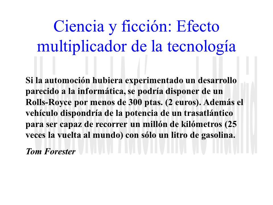 Ciencia y ficción: Efecto multiplicador de la tecnología Si la automoción hubiera experimentado un desarrollo parecido a la informática, se podría dis