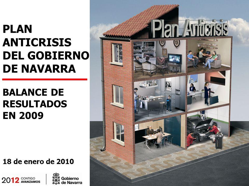 PLAN ANTICRISIS DEL GOBIERNO DE NAVARRA BALANCE DE RESULTADOS EN 2009 18 de enero de 2010