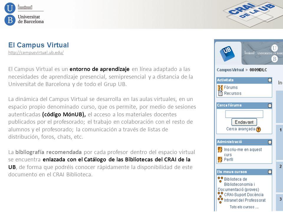 El Campus Virtual El Campus Virtual es un entorno de aprendizaje en línea adaptado a las necesidades de aprendizaje presencial, semipresencial y a dis