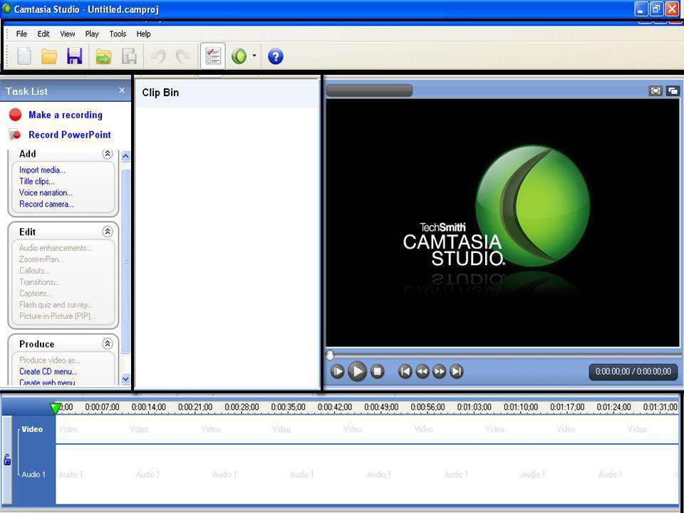 Barra de Herramientas Barra de tareas pendientes y colecciones multimedia importadas.