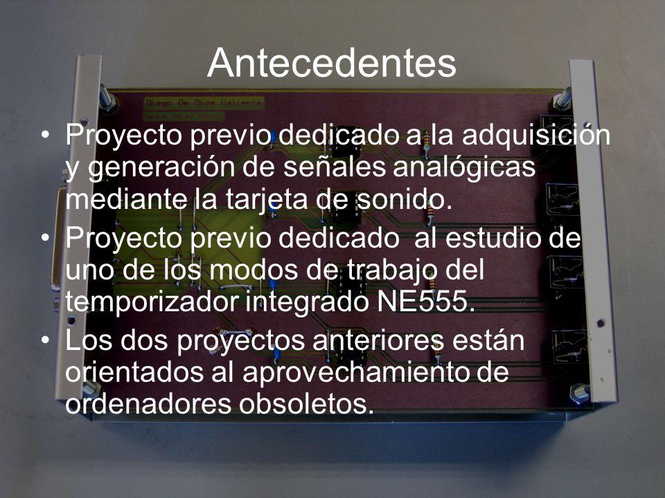 Objetivos Conseguir a partir del temporizador integrado NE555 funcionando en modo astable, el diseño de un sistema de adquisición de datos.