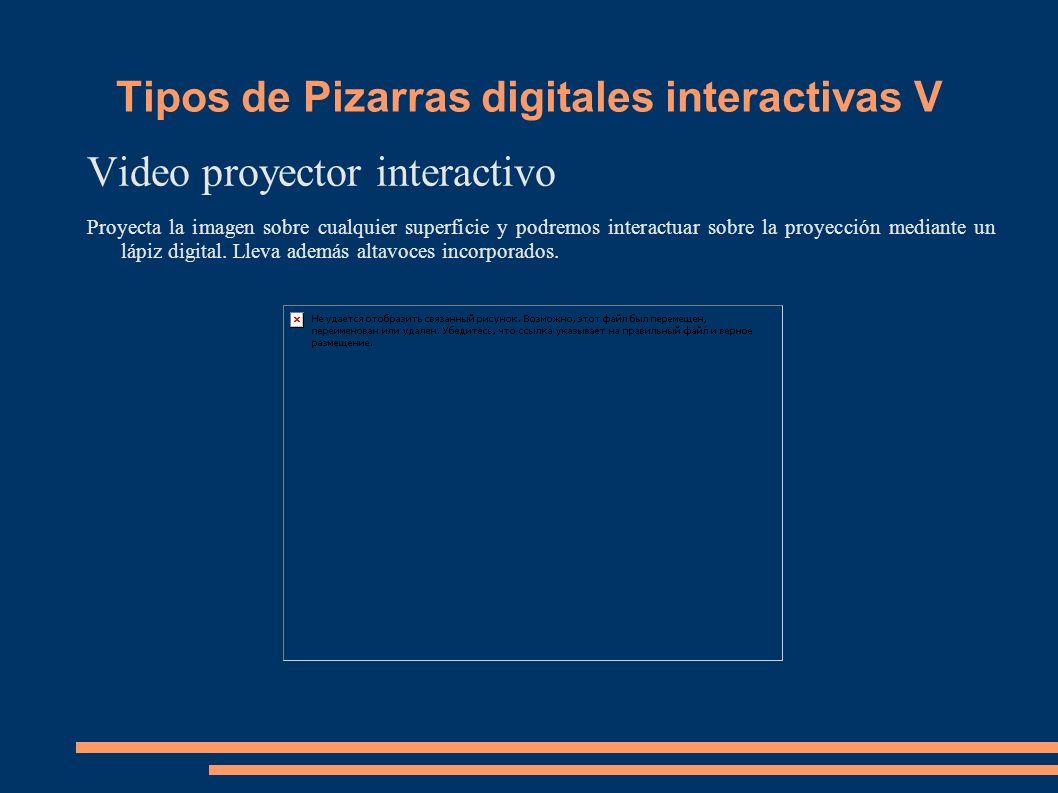 Video proyector interactivo Proyecta la imagen sobre cualquier superficie y podremos interactuar sobre la proyección mediante un lápiz digital. Lleva