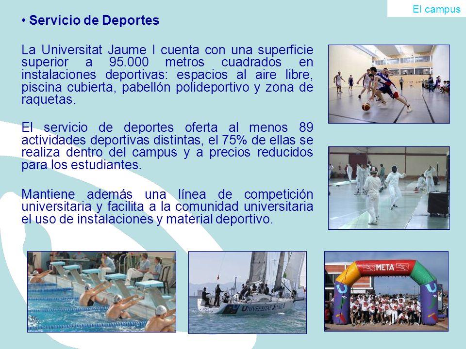 Servicio de Deportes La Universitat Jaume I cuenta con una superficie superior a 95.000 metros cuadrados en instalaciones deportivas: espacios al aire