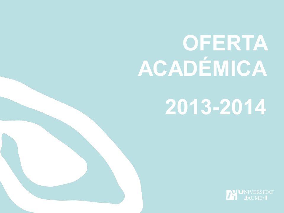 OFERTA ACADÉMICA 2013-2014