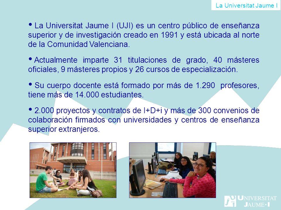 La Universitat Jaume I (UJI) es un centro público de enseñanza superior y de investigación creado en 1991 y está ubicada al norte de la Comunidad Vale
