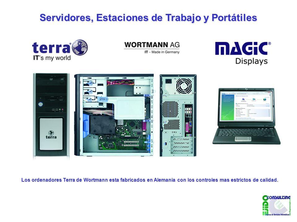 Servidores, Estaciones de Trabajo y Portátiles Los ordenadores Terra de Wortmann esta fabricados en Alemania con los controles mas estrictos de calidad.